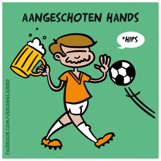 Aangeschoten hands