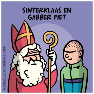 Sinterklaas en gabber piet
